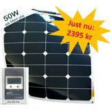 50W SunBeam System Flexibel Solpanel - paketpris!